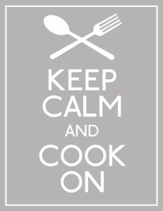 Keep Calm & Cook On - lighter